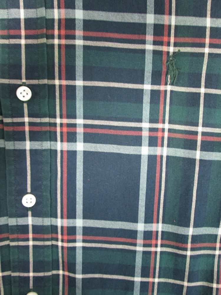 Polo Ralph Lauren Mens Cotton Plaid Button-Down Shirt Green L