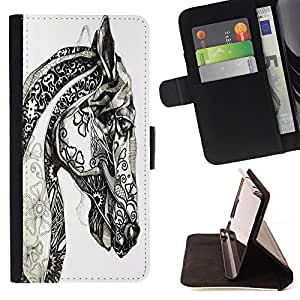 Dragon Case- Caja de la carpeta del caso en folio de cuero del tirš®n de la cubierta protectora Shell FOR LG Optimus G2 D800 D801 D802 D803 VS980 F320- Horse Cute Atec