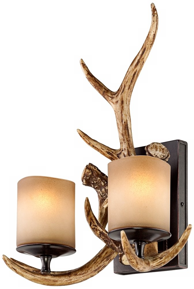 lamp wall sconce product led antler deer sconces acrylic modern detail
