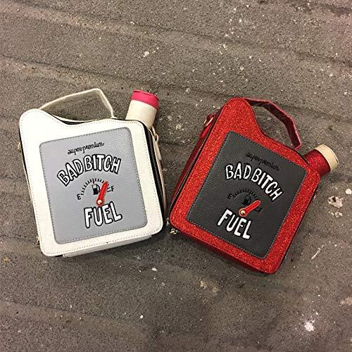 monedero bordado del cadena hombro las botella la de Moda cartas bolso del del monedero de bolso Gasolina de forma de del de diversión del de personalidad d la Pnizun la señoras aleta la de la bolso 0Zx8UU