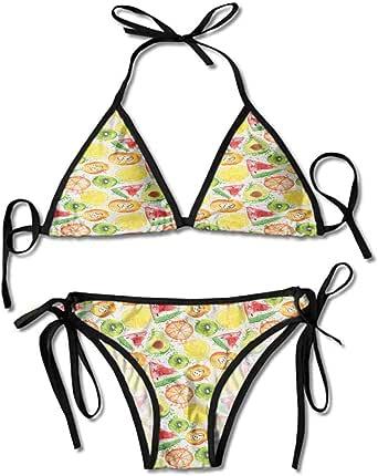 Amazon.com: kjhep lk Thong 2PCS Bikini Sets,Kiwi Peach