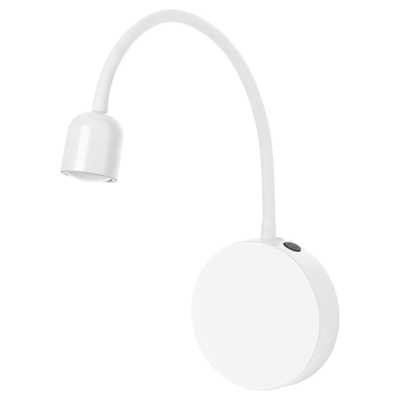 Ikea Blavik Applique Murale à Led En Blanc Piles Amazonfr