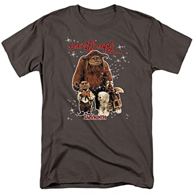 998526d41 Popfunk Labyrinth Friends Movie Hoggle Ludo Sir Didymus T Shirt & Stickers  (Small) Charcoal