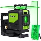 Huepar 901CG Professional Laser Level, Mute 150 Ft Green Beam Cross Laser Self-Leveling 360-Degree Horizontal Line with Magnetic Pivoting Base, 2 Full-time Pulse Modes