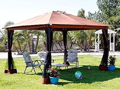 Outdoor Home 10` X 12` Backyard Garden Awnings Patio Gazebo Canopy Tent Netting