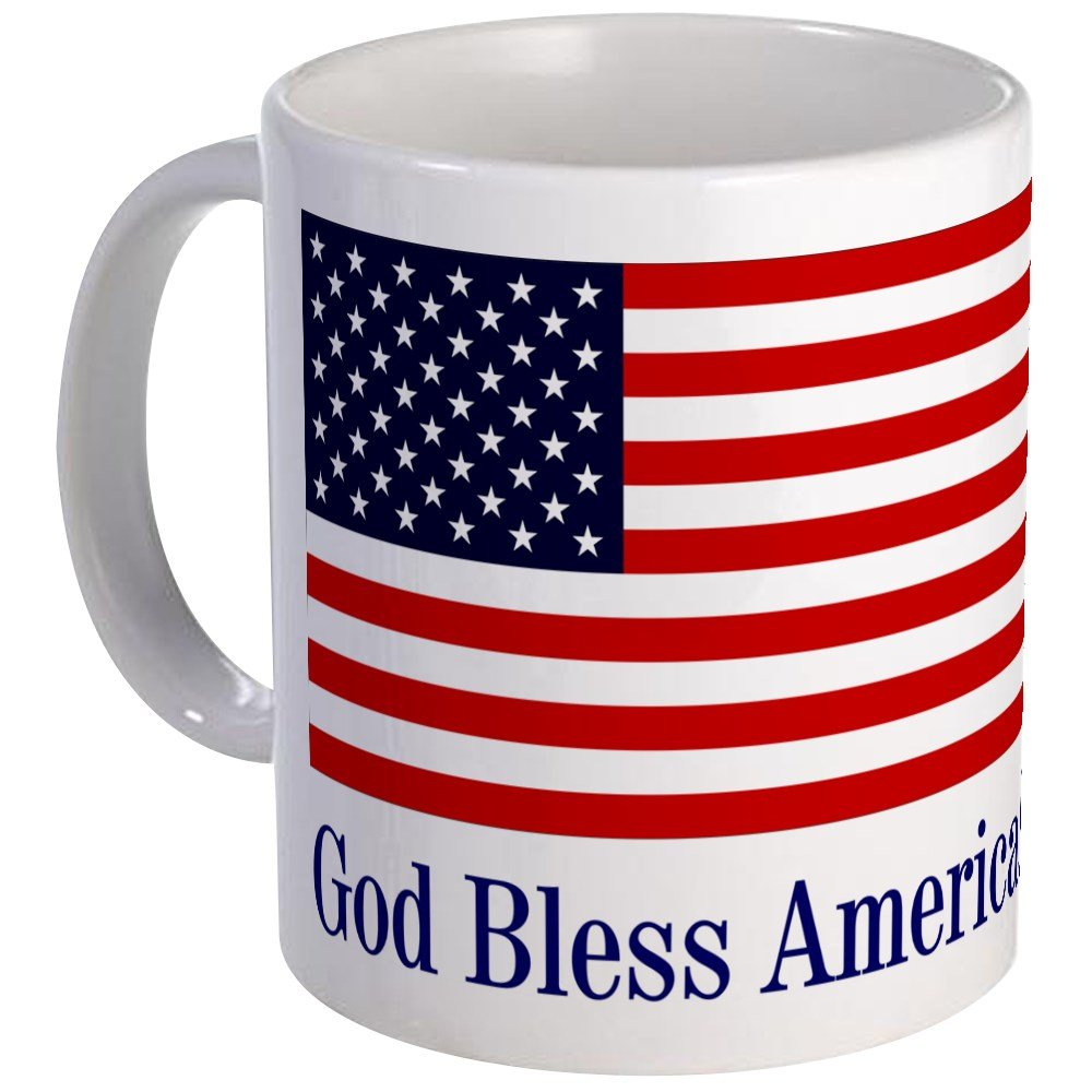 CafePress - God Bless America Mug - Unique Coffee Mug, Coffee Cup