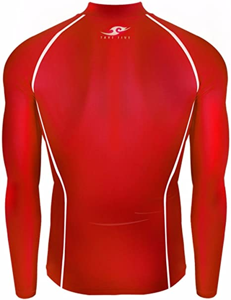 dd40906b865 Amazon.com  JustOneStyle 051 Skin Tight Compression Base Layer Red Running  Shirt Mens S - 2XL  Clothing
