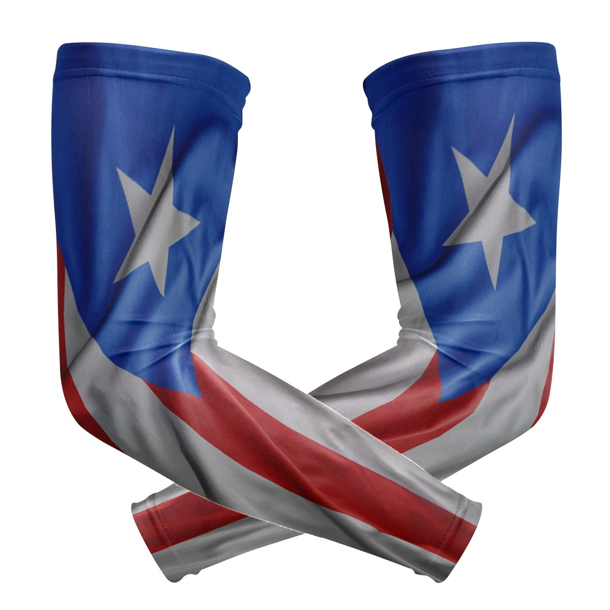 super3Dprinted Puerto Rico Flag Sports Sleevelet Oversleeves Riding Protection Arm Sleeves