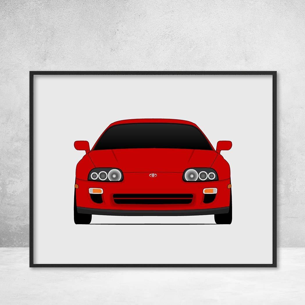 Amazon.com: Toyota Supra MK4 Twin Turbo (1993-2000) Poster Print Wall Art Decor Handmade A80: Handmade