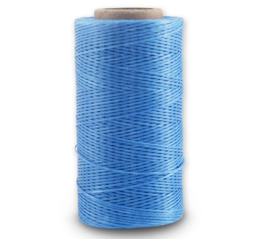 Filo cerato, 150 D, 0,8 mm, in pelle cerata, piatto, filo cerato (150 D 0,8 mm 260 M), 011, colore: azzurro cielo VegacareDirect
