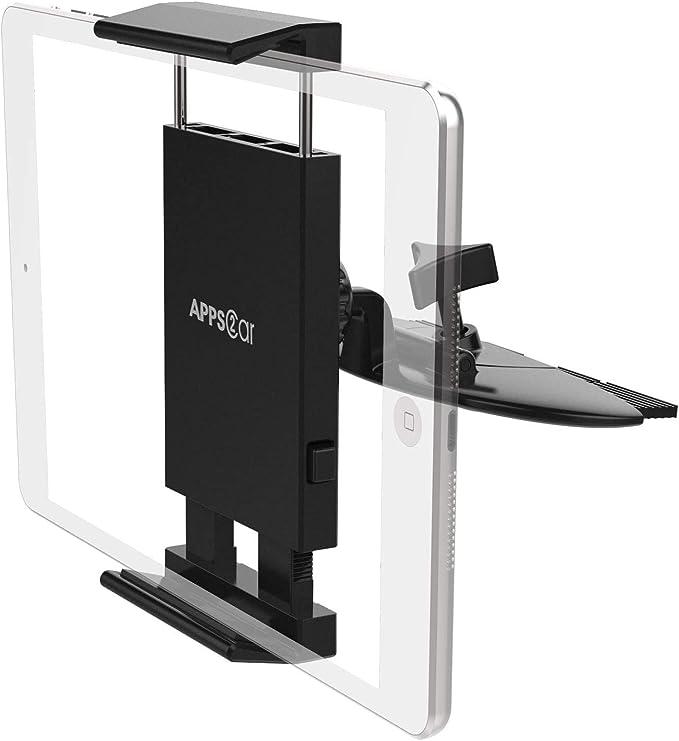 Apps2car Tablet Halterung Auto 360 Drehbarer Universal Tablet Halterung Cd Schlitz Tablet Halterung Auto Für Telefon Und Tablet Elektronik