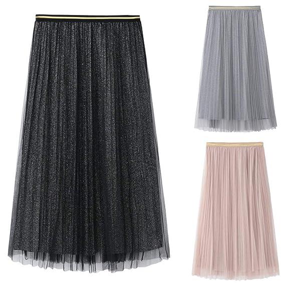 Faldas largas Tul Mujer Fiesta Elegante Vintage/💖QIjinlook ...