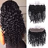 Cheap Ucrown Hair 13×4 Ear To Ear Lace Frontal With Baby Hair Brazilian Deep Wave Frontal Lace Closure Deep Curly Virgin Human Hair (16inch)
