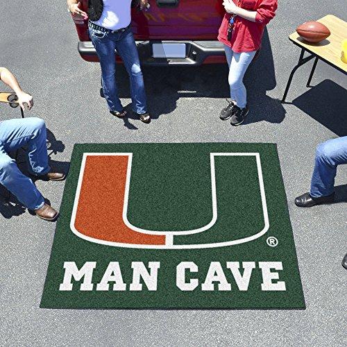 University of Miami Man Cave Tailgater Rug - Rug Tailgater Miami