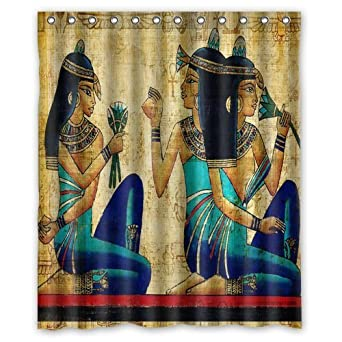 Bathroom decor vintage egyptian painting for Egyptian bathroom designs