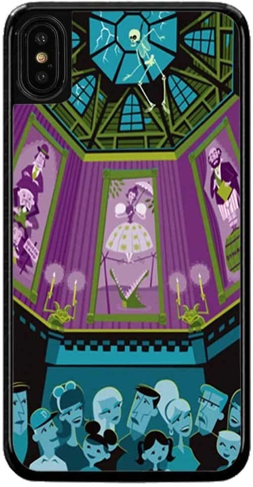 Cell World LLC - Haunted Mansion Hard Rubber Phone Case for Apple iPhone XR