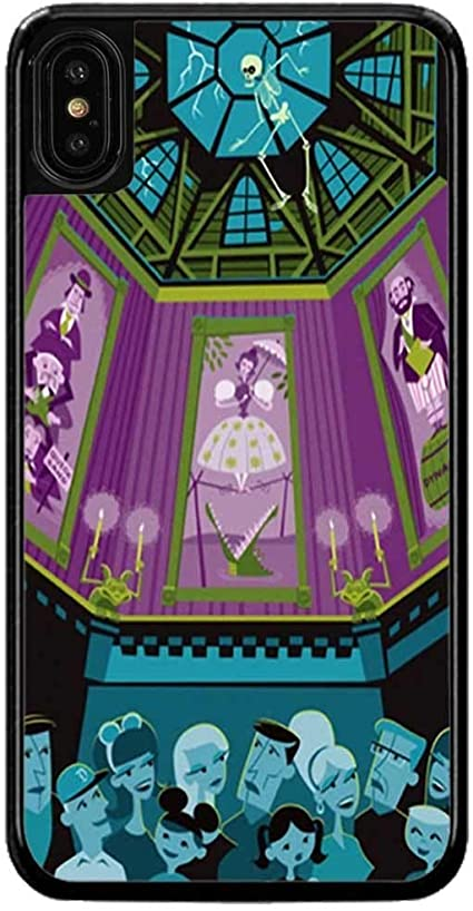Amazon Com Cell World Llc Haunted Mansion Hard Rubber Phone Case For Apple Iphone Xr