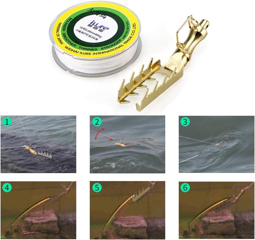 Lure Retriever Lure Bait Saver Buscador Lure Rescue Tackle con 30 M PE Line Lure Fishing Tackle Tool Explopur Se/ñuelo Retriever