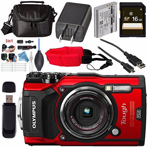 Olympus TG-5 Waterproof Camera with 3-Inch LCD, TOUGH BUNDLE