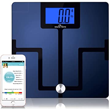 Easy@Home Digital Bluetooth Body Fat Smart Scale with App for iOS and  Android Mobile Devices,