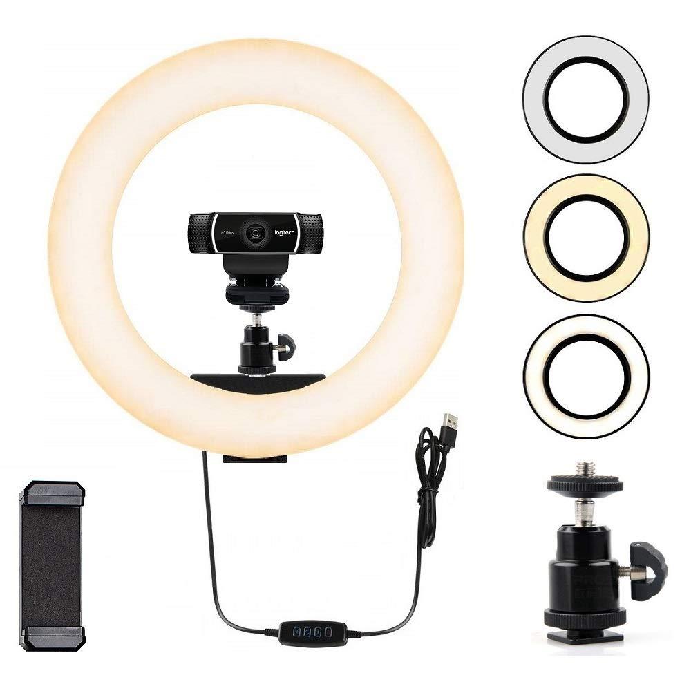 Webcam Light, Ring Light for Logitech Webcam C920,C922x,C930e,Brio 4K,C925e,C922,C930,C615 1/4'' Screw Hole- 12'' Light by AceTaken