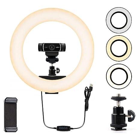 41828187ec8 Amazon.com : Webcam Light, Ring Light for Logitech Webcam C920, C922x,  C930e, Brio 4K, C925e, C922, C930, C615 1/4'' Screw Hole- 12'' Light :  Camera & Photo