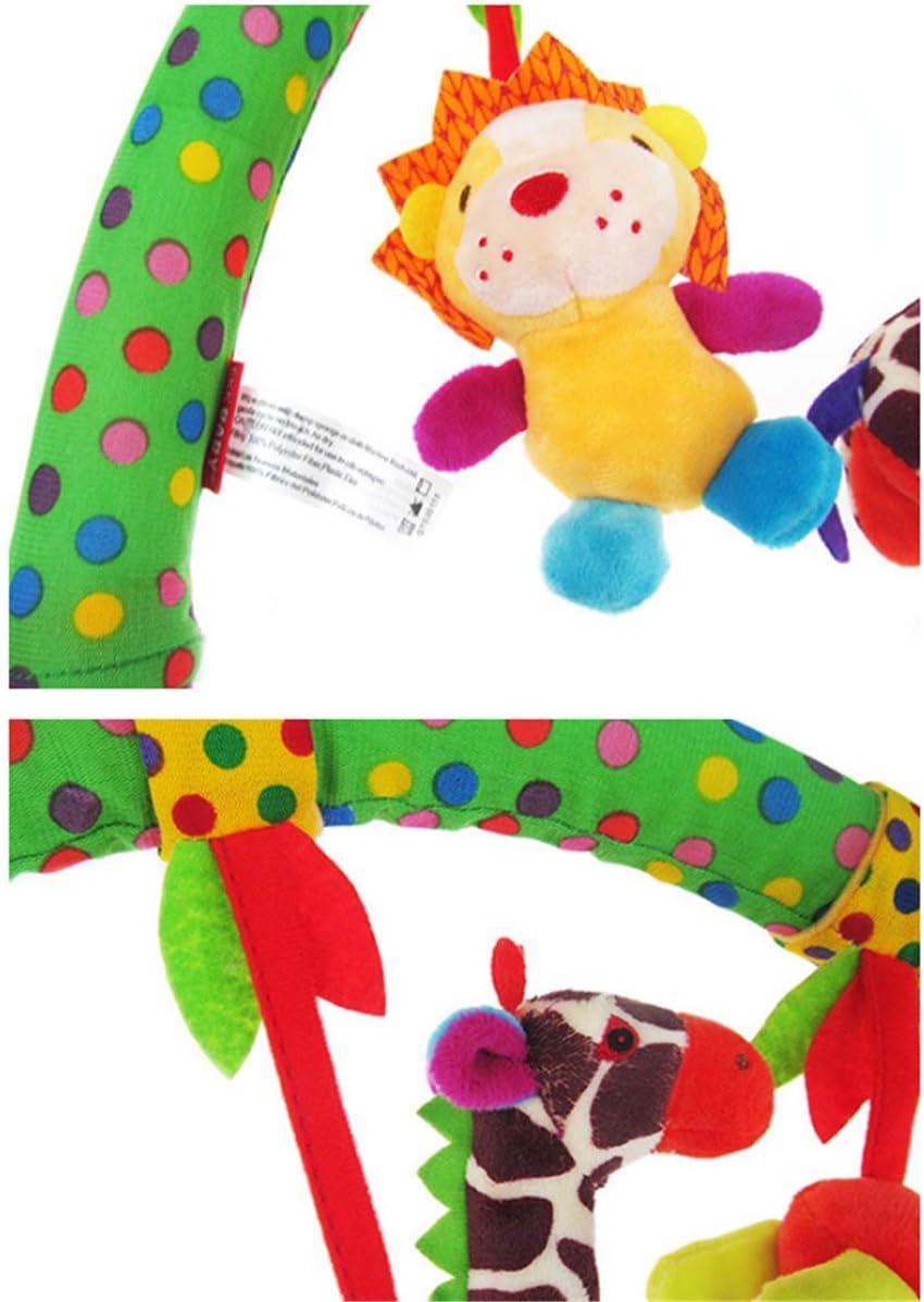 Arche dActivit/és Clip Lit de Berceau /à Suspendre Animal Girafe Marbeine Arche Universelle D/éveil de Jeux Music B/éb/é Barre Poussette