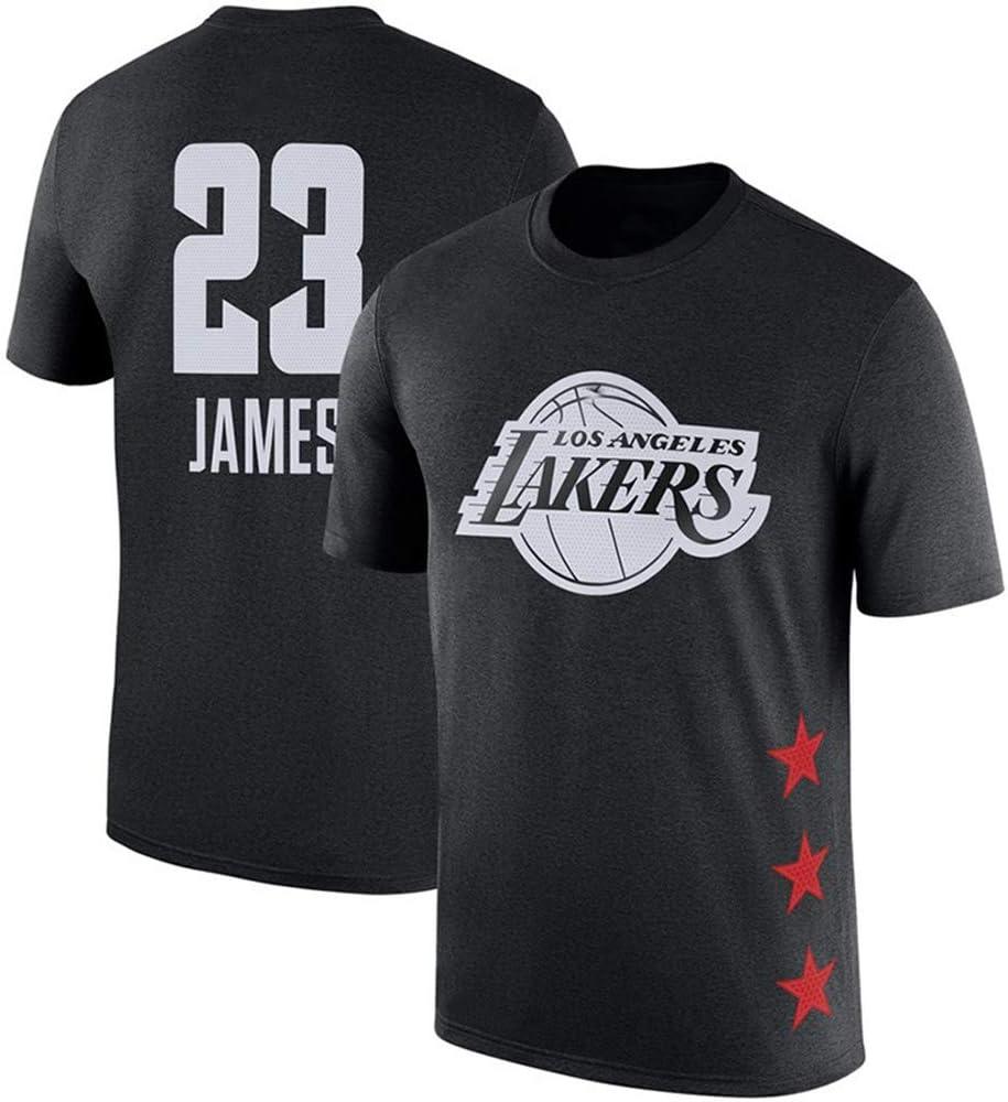 160~165cm BXWA-Sports All-Star Lebron James Camiseta NBA Lakers # 23 de los Hombres Ocasionales de Baloncesto Jersey Impreso Sueltos de algod/ón de Las Camisetas del Baloncesto Tops,S