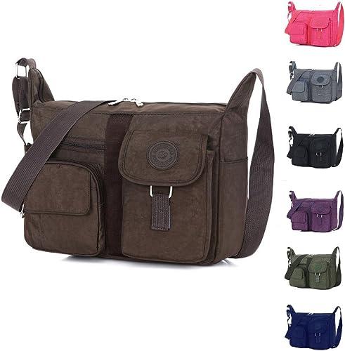 Nylon Shoulder Bags Men Messenger Bag Solid Women Casual Travel Crossbody Bags