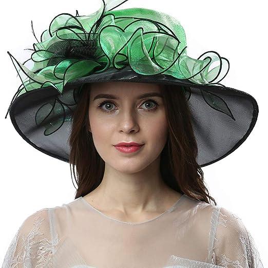 6913a6b6 Original One Women's Organza Hats KDW1721 for Kentucky Derby Day, Church,  Wedding, Tea