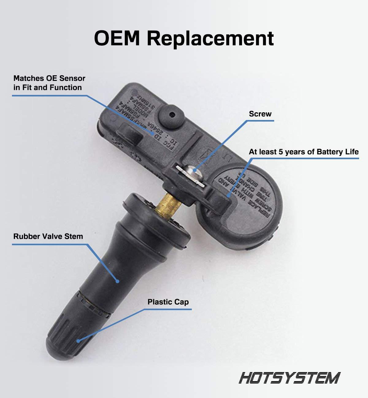 2006 2007 2008 Sedona TPMS Tire Pressure Sensors OEM Replacement 4