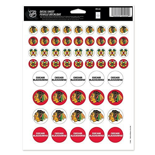 - WinCraft NHL Chicago Blackhawks Vinyl Sticker Sheet, 8.5