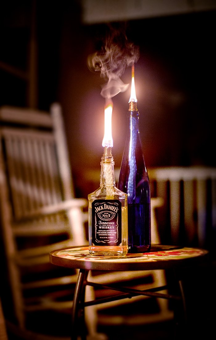 Kentucky Home 3 Pack: Table Bottle Torch Kit - Includes 3 Wicks and Brass Wick Mount - Just Add Bottle for an Outdoor Wine Bottle Light - Wine Bottle Torch Kit: Perfect for garden lighting, tiki bar, or outdoor lighting Wine Bottle Light Includes Wicks and Brass Wick Holders - Just add wine bottle! Beautiful Accent Garden Lights - Great alternative to garden decor solar lights, or solar path lights, DIY wine bottle light - patio, outdoor-lights, outdoor-decor - 61WlqzIms9L -