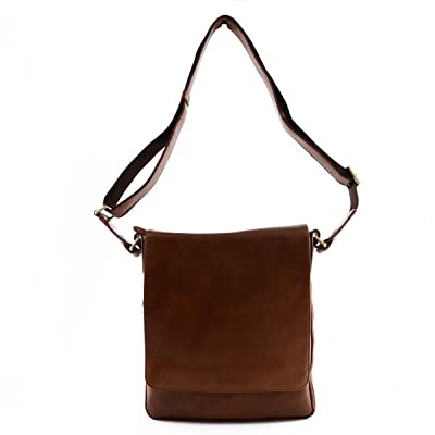 Dream Leather Bags Made in Italy Genuine Leather Genuine Leather Bag For Man With Zip Extension Color Brown