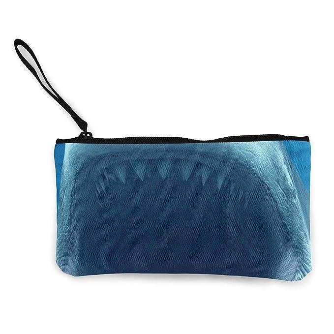 Amazon.com: Monedero de lona, diseño de tiburón, bolsa de ...