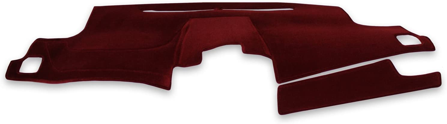 Black Coverking Custom Fit Dashcovers for Select Subaru Legacy and Outback Sedan Models Velour
