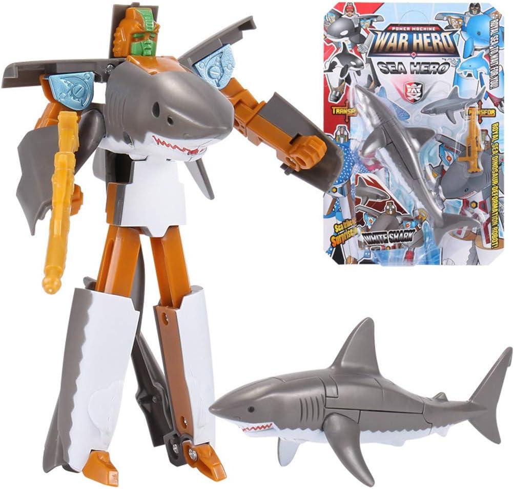 "5/"" Great White Shark Robot Action Figure"