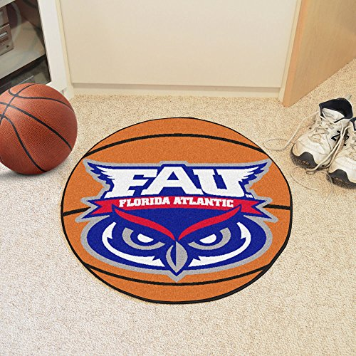Fanmats Basketball Floor Mat w Florida Atlantic University Owls Logo - Fanmats Florida Atlantic University