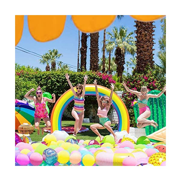 """Inflatable Rainbow Yard Summer Sprinkler Toy, Over 6"""" Long Outdoor Lawn Rainbow Arch Water Spray Toy for Kid Child Adult Games 8"""