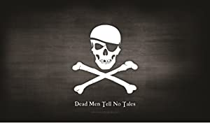 PIRATE FLAG - Skull and Crossbones - Jolly Roger Mat Trading Card Playmat for Magic the Gathering etc - By MAX PRO