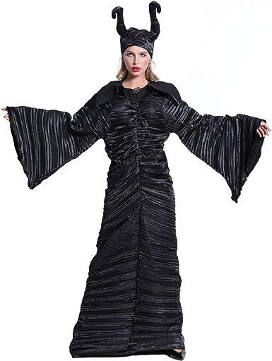 2REMISE Disfraz De Halloween Disfraz De Bruja del Cuerno del ...