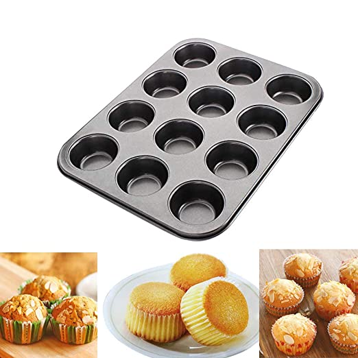 Molde para Magdalenas y Muffins, Molde de Muffin de Acero al ...