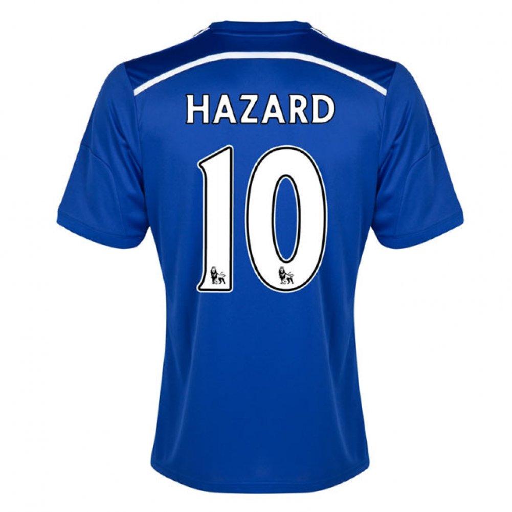 2014-15 Chelsea Home Shirt (Hazard 10) Kids B077VK4VJXBlue XL Boys 32-34\