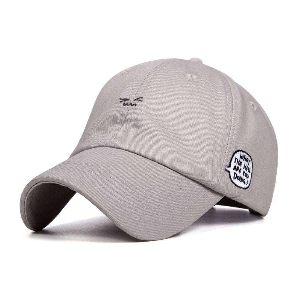 ZSOLOZ Baseball Caps Unisex Cute Face Embroidery Baseball Cap Women Baseball Hat For Adult Men Women Hip Hop Dad Snapback Hat Bone Garros