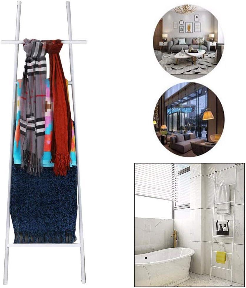 Y-only - Colgador de Toallas de baño, Gran Escalera toallero de 6 peldaños para Toallas, Mantas o periódicos, Soporte para Toallas de baño de Metal, toallero: Amazon.es: Hogar