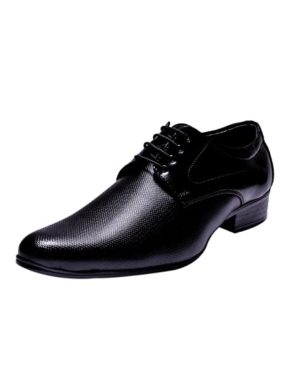 Sir Corbett Men's Black Synthetic Leather Formal Shoes -10