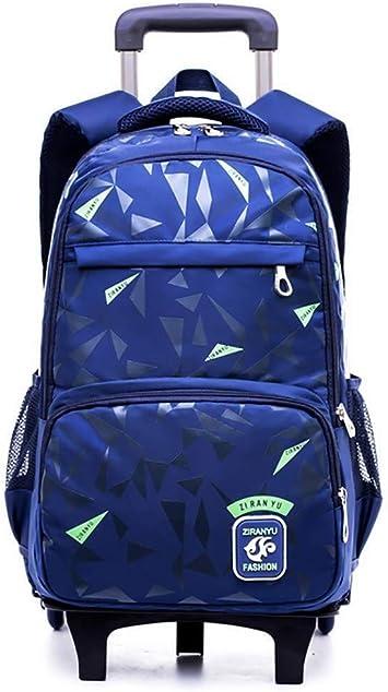 Mochila de la Carretilla del Estudiante, Mochila rodante Desmontable de Gran Capacidad del Rodillo, totalizador del Viaje de la Escalera Que Sube (Color : Blue): Amazon.es: Equipaje