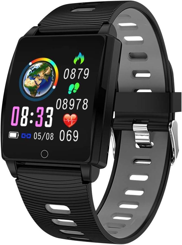 SmartWatch, Padgene Reloj Inteligente IP67 Impermeable Bluetooth Pulsera Actividad Deportiva Múltiples Lenguajes con Pulsómetro Monitor de Sueño, Música, Notificación de Llamada Mensaje para Android e