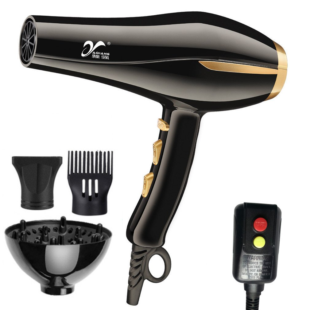 REBUNE Latest 3000W 6-Speed Hair Dryer Blue Light Anion Ceramic Ionic Fast Styling Blow Dryer Latest Upgrade AC Motor Salon&Home Use Hair Drier