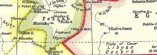 Norte de África: - mapa de colonias europeas en África 1884 1920: Amazon.es: Hogar